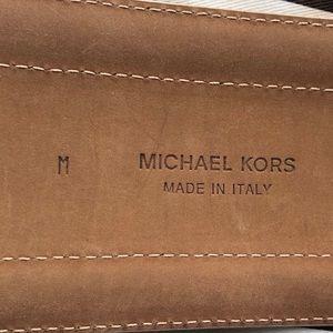 Michael Kors Accessories - MICHAEL KORS ITALY LEATHER CAMEL WIDE BELT SZ M